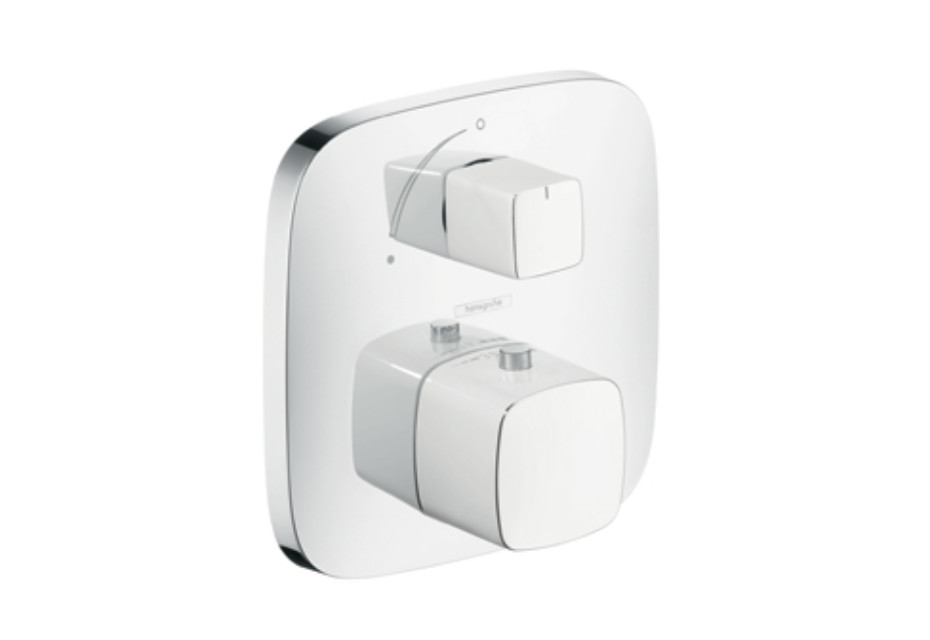 PuraVida Thermostat for concealed installation with shut-off valve