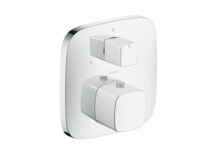 PuraVida Thermostat for concealed installation with shut-off/diverter valve