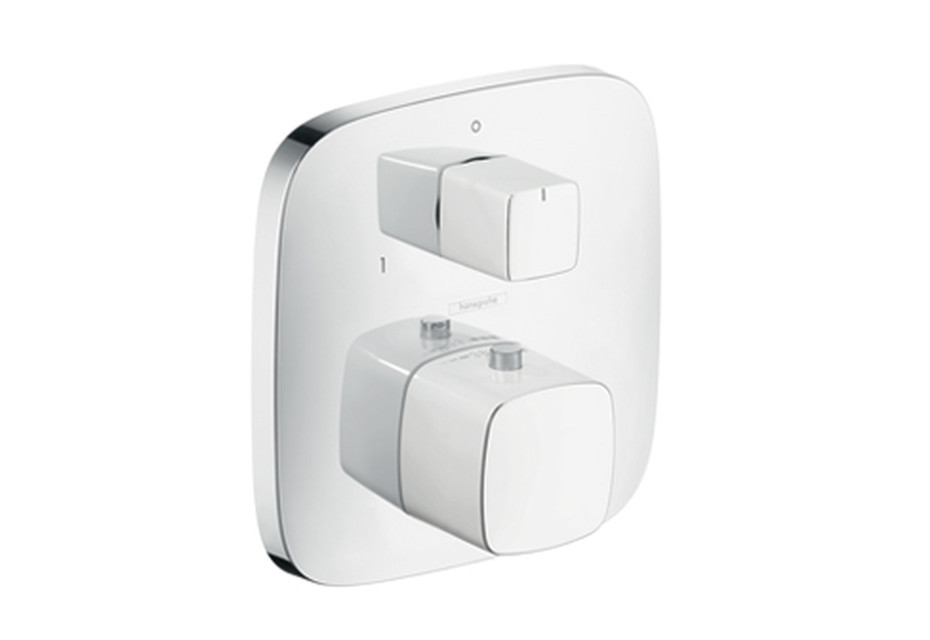 PuraVida Thermostat for concealed installation with shut-off/diverter valve