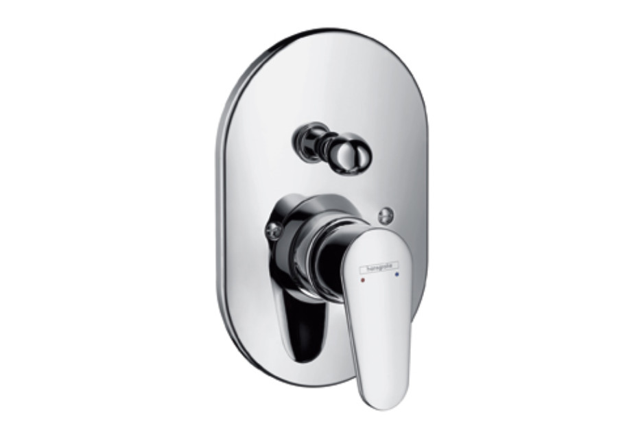 Talis E² Single Lever Bath Mixer, for concealed installation, oval version