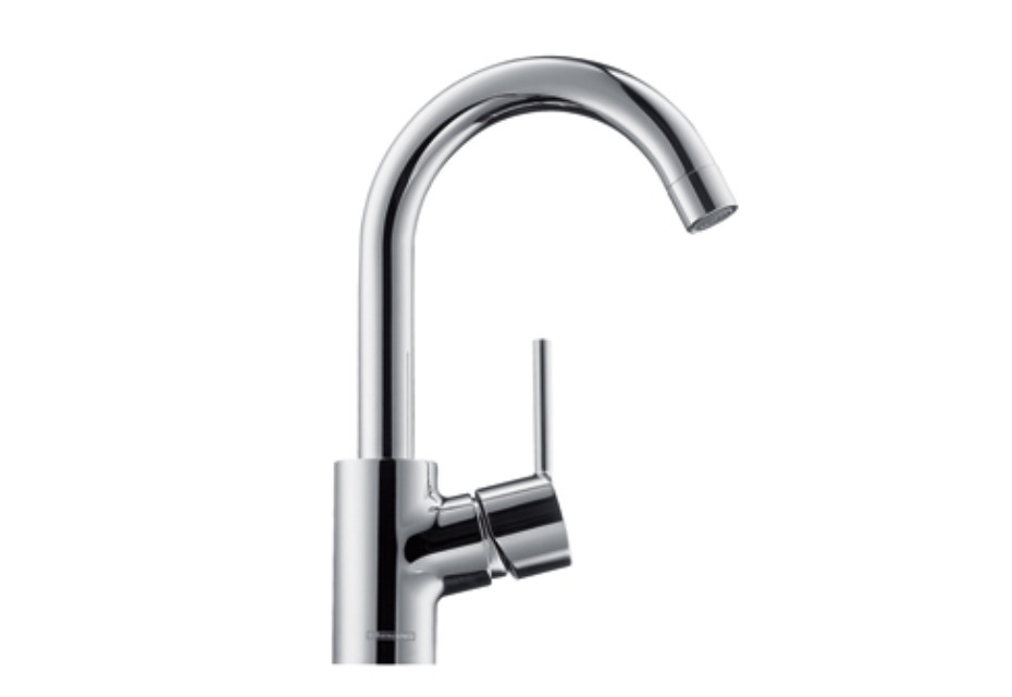 Talis S Single Lever Basin Mixer DN15, swivel spout with 360° range