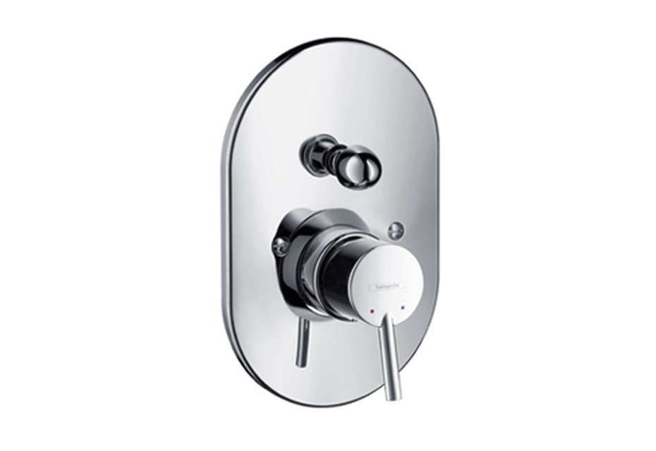 Talis S Single Lever Bath Mixer, for concealed installation, DN15, oval version