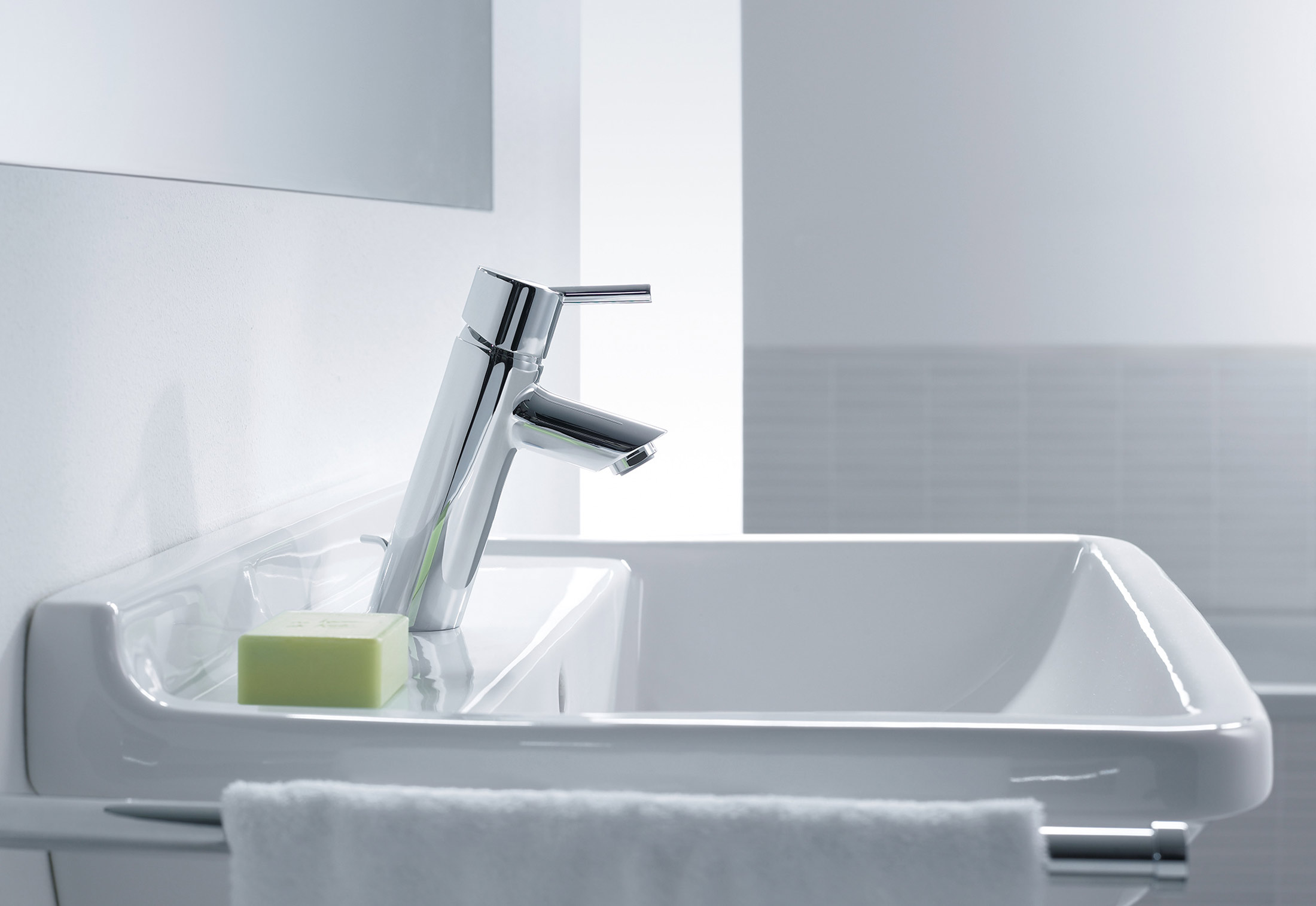 Talis Single Lever Basin Mixer 80 CoolStart by Hansgrohe | STYLEPARK