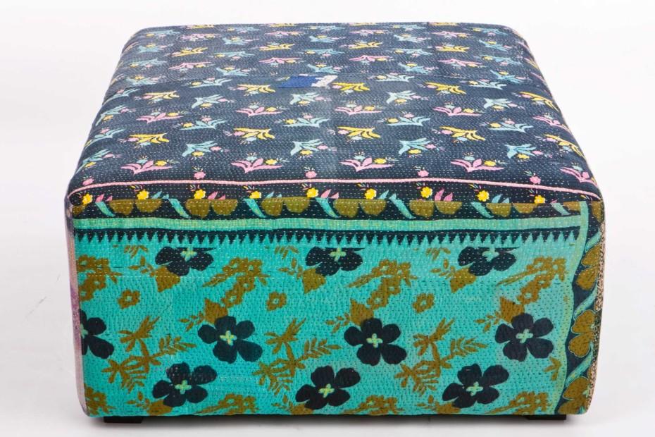 Antique Quilt Ottoman