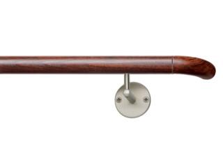 Handlauf, Endbogen Holz, System Lignum  von  HEWI