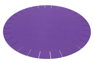 Rug fringed round  by  HEY-SIGN