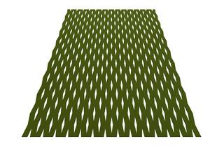 Teppich Grate rechteckig  von  HEY-SIGN