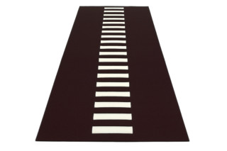 Rug splitted with central interwoven stripe  by  HEY-SIGN