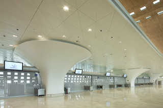 clads terminal 2F, Charles de Gaulle airport, Paris  by  HI-MACS®