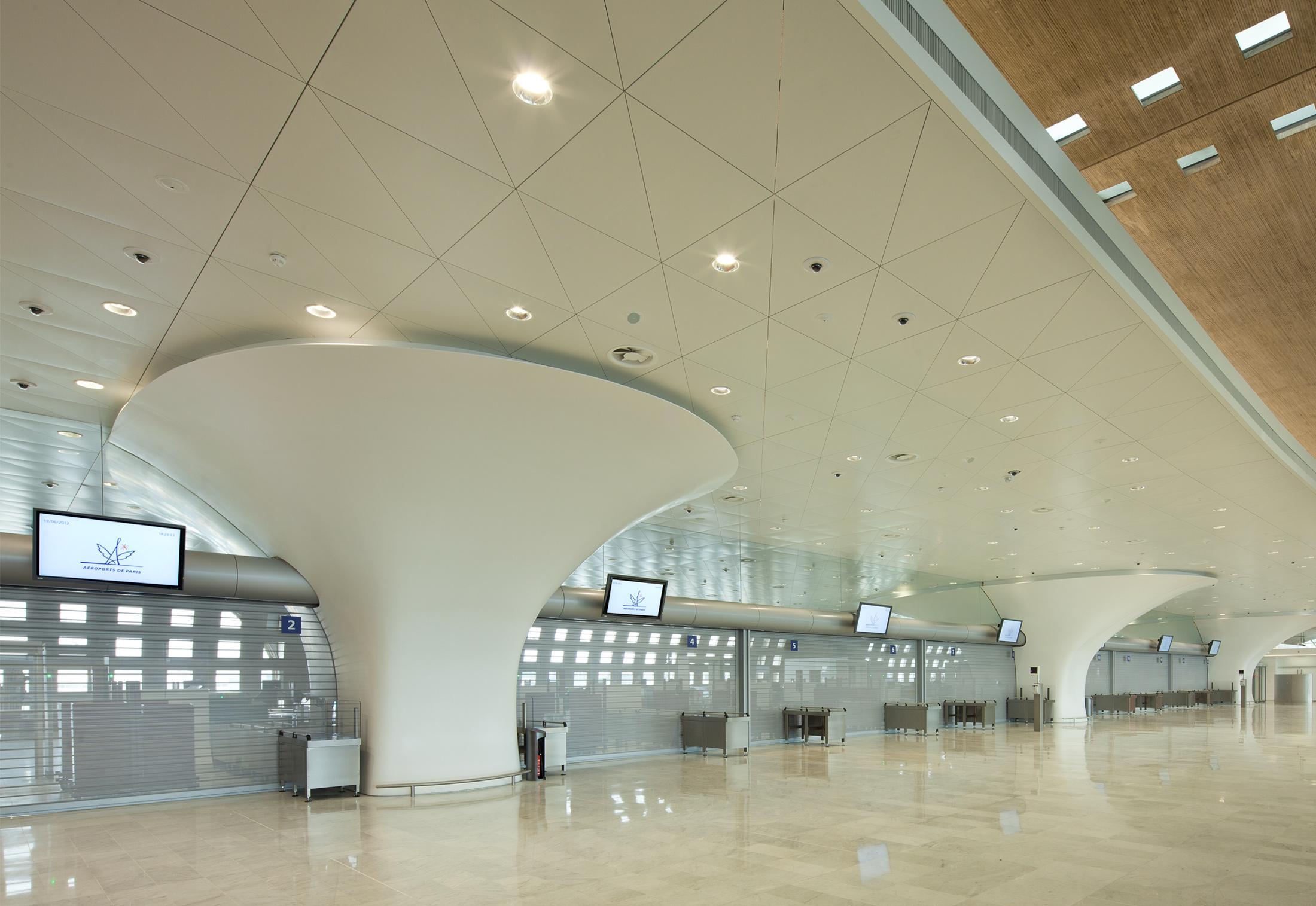 Clads Terminal 2f Charles De Gaulle Airport Paris By Hi Macs Relay 3 Cdg