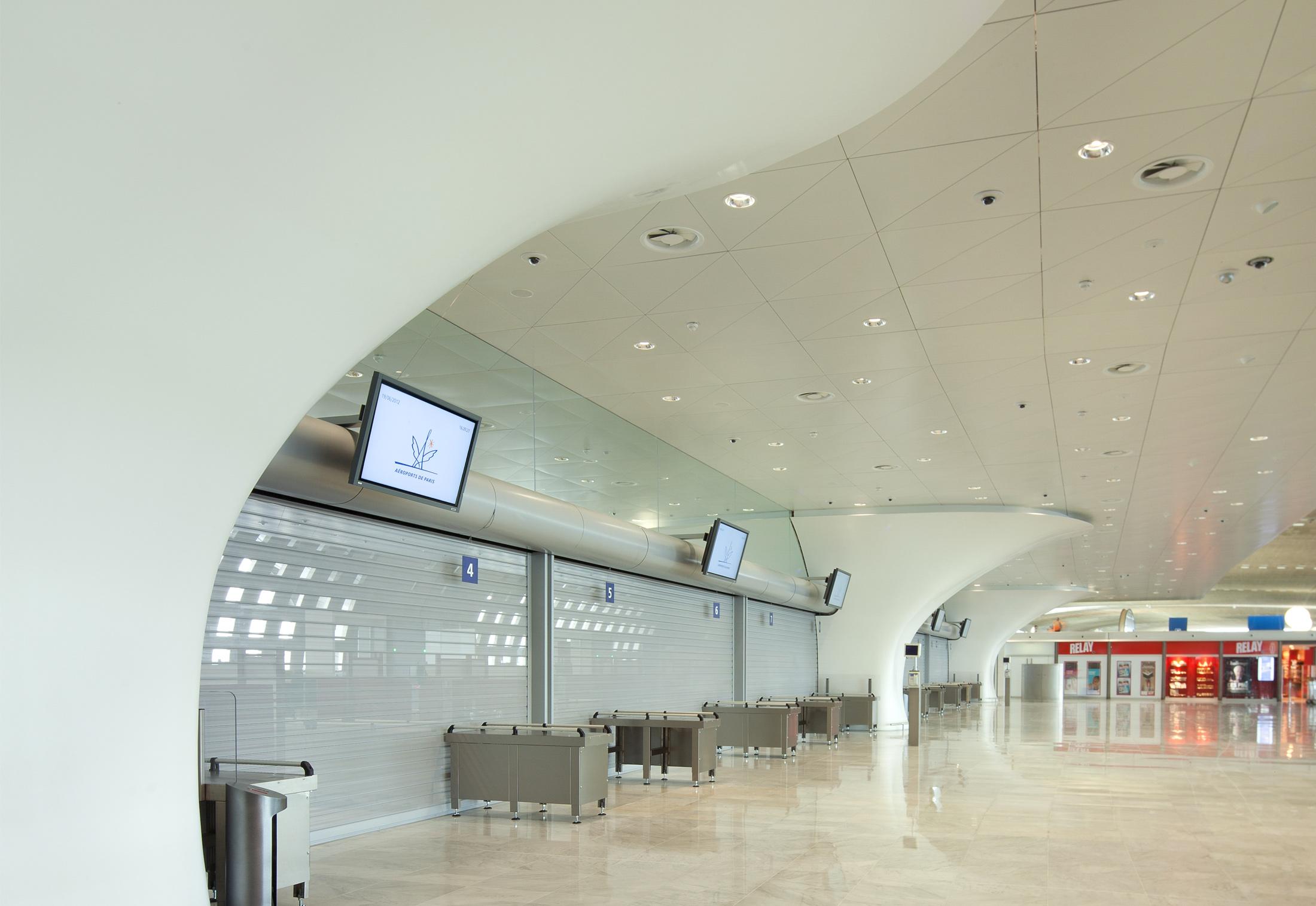 Clads Terminal 2f Charles De Gaulle Airport Paris By Hi