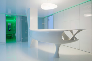 Solid Alpine White, Beauty clinic, Bukarest  by  HI-MACS®