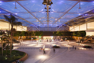 ETFE foil cushions, shopping-complex  by  Hightex