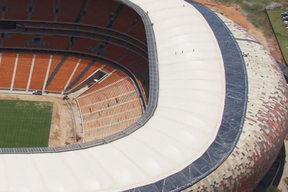 PFTE beschichtete, sandfarbene Glasfaser, Soccer City Stadion