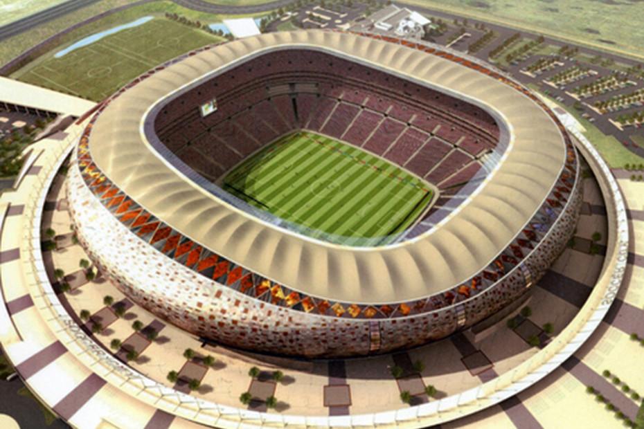 PTFE-coated sand coloured glass fabric, Soccer City Stadium
