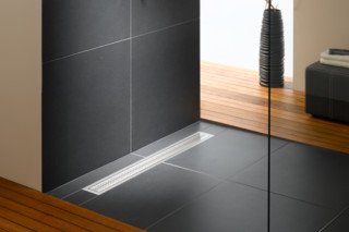 Floor-level shower system Poresta BFR universal drain board  by  illbruck