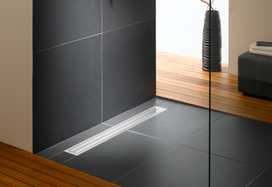 Floor-level shower system Poresta BFR universal drain board