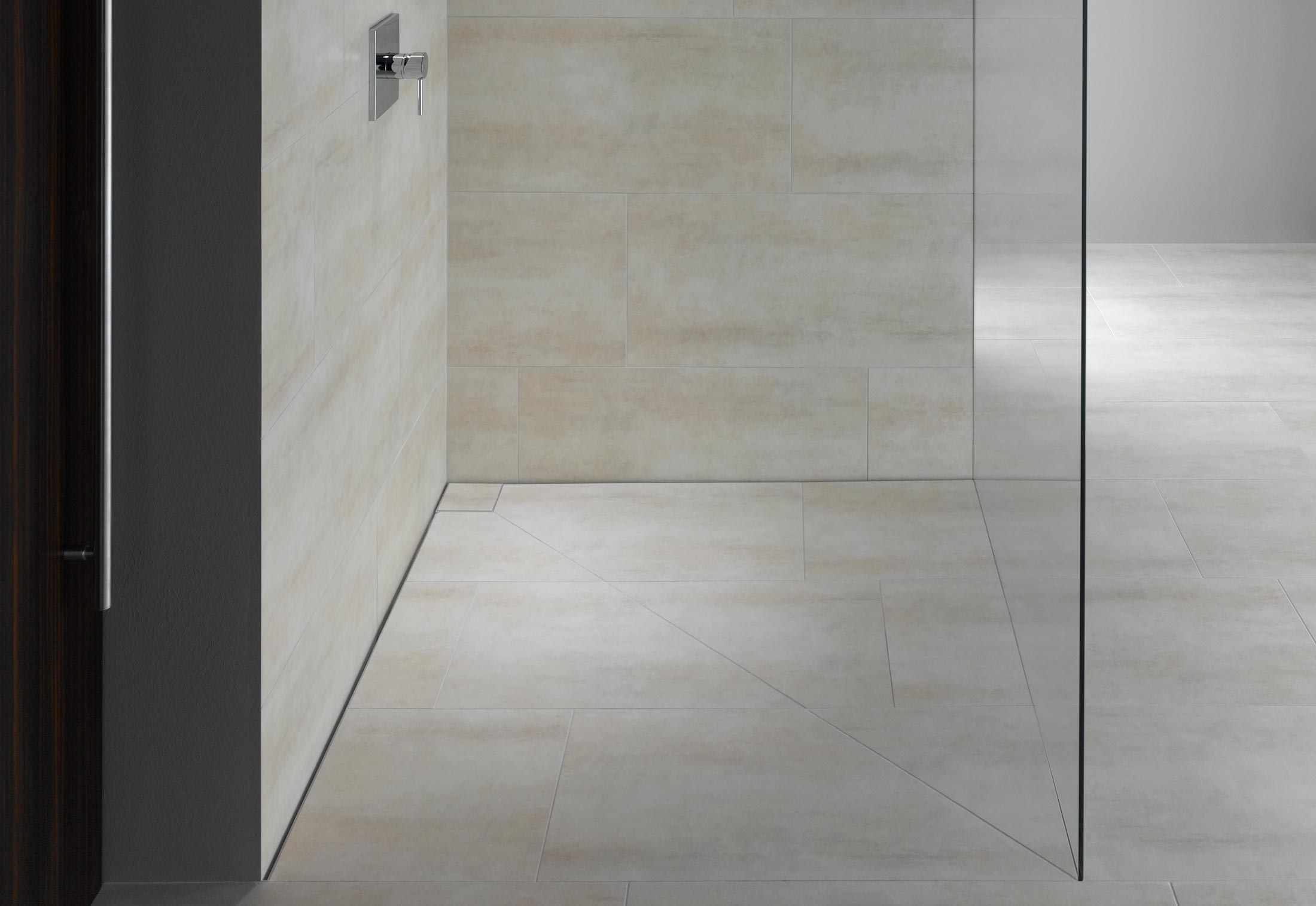 Shadow Gap Staircase Lighting: Floor-level Shower System Poresta Slot By Illbruck