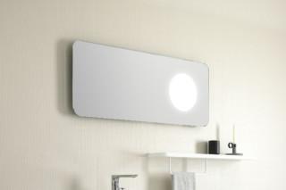 FLUENT mirror with lighting  by  Inbani
