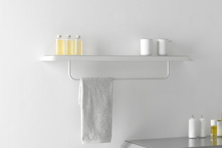FLUENT rack with towel rail  by  Inbani