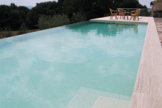 Overflow swimming pool tiles coated with sand colors 5x5  by  Indalo Piscine