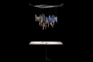 TU-BE chandelier  by  Ingo Maurer