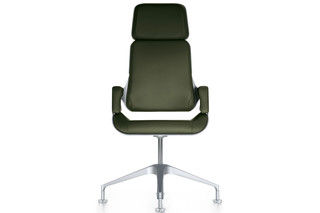 Silver conference armchair  by  Interstuhl