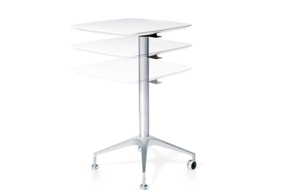 Silver conference desk