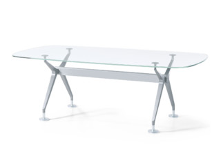 Silver conference table  by  Interstuhl