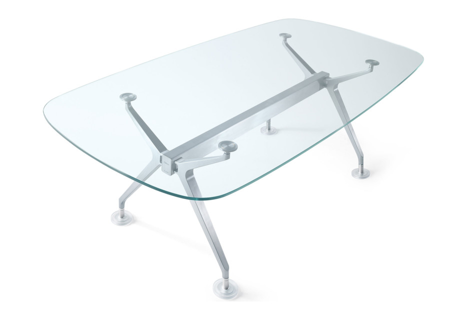 Silver Konferenztisch