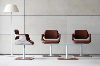 Silver lounge chair  by  Interstuhl
