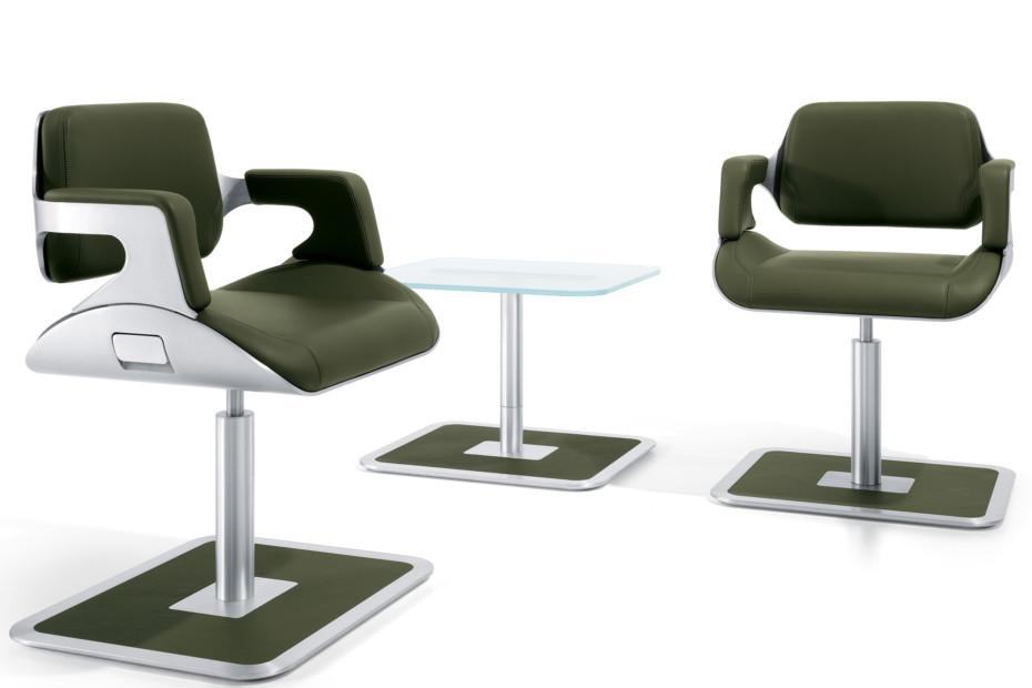 Silver Lounge Sessel