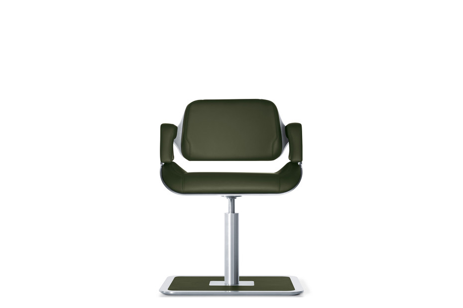 Silver lounge chair