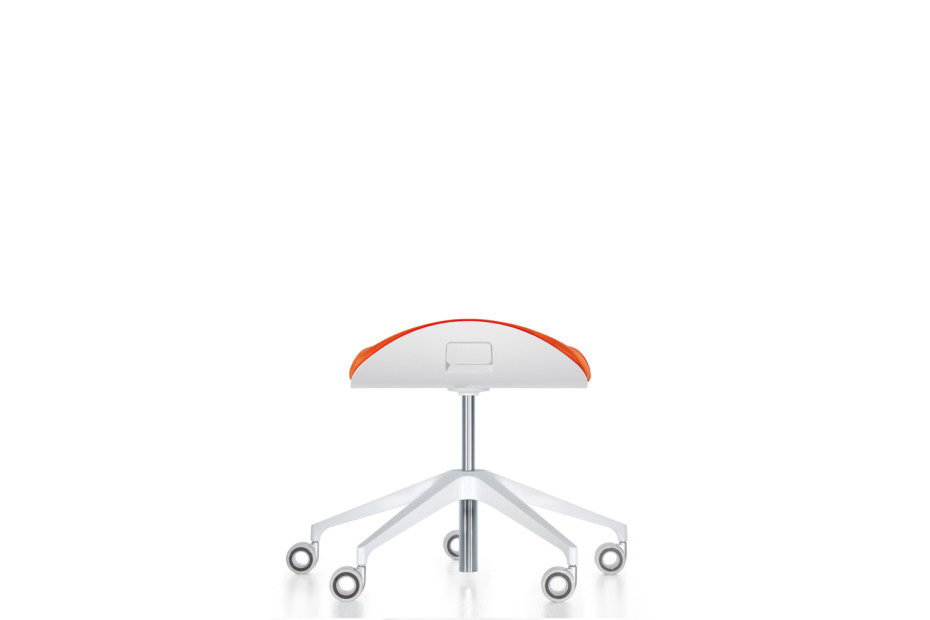 Silver office stool