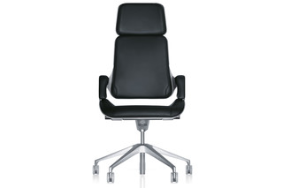 Silver office swivel armchair 362S  by  Interstuhl