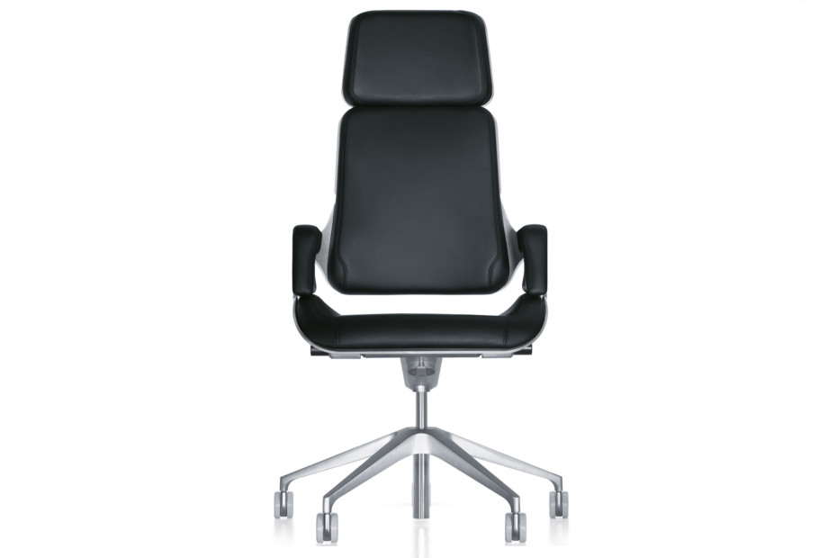 Silver office swivel armchair 362S