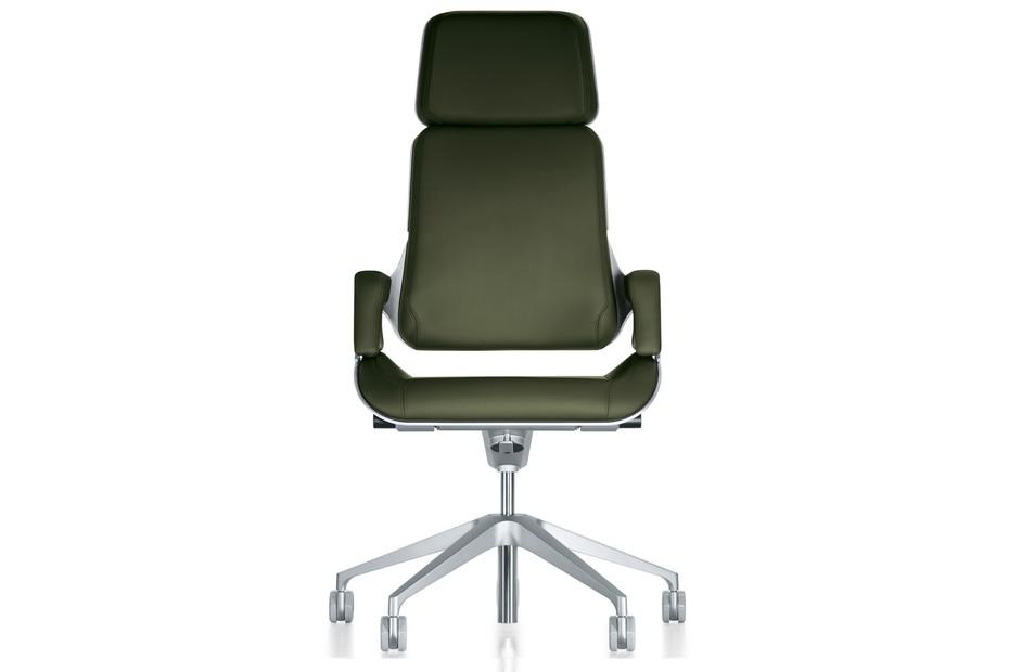 Silver office swivel armchair 362S