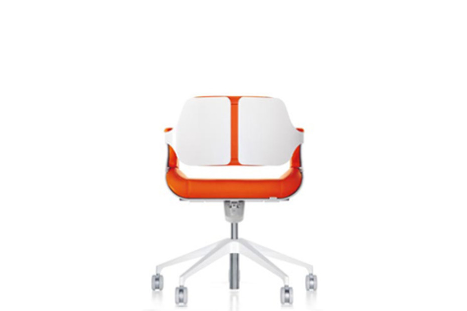 Silver office swivel chair 162S