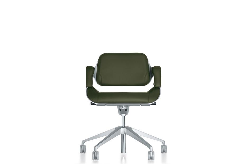 Silver office swivel chair 162S