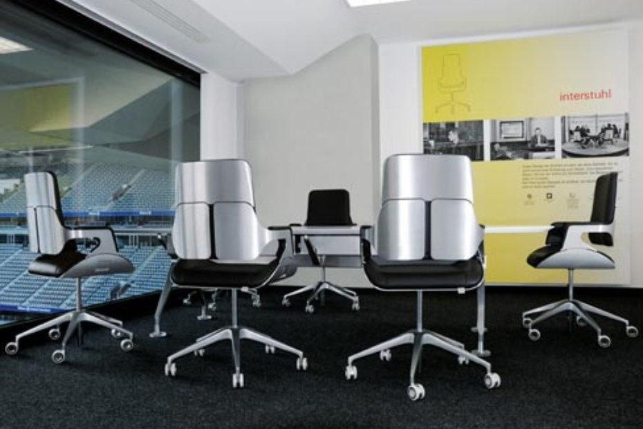 Silver office swivel chair 262S