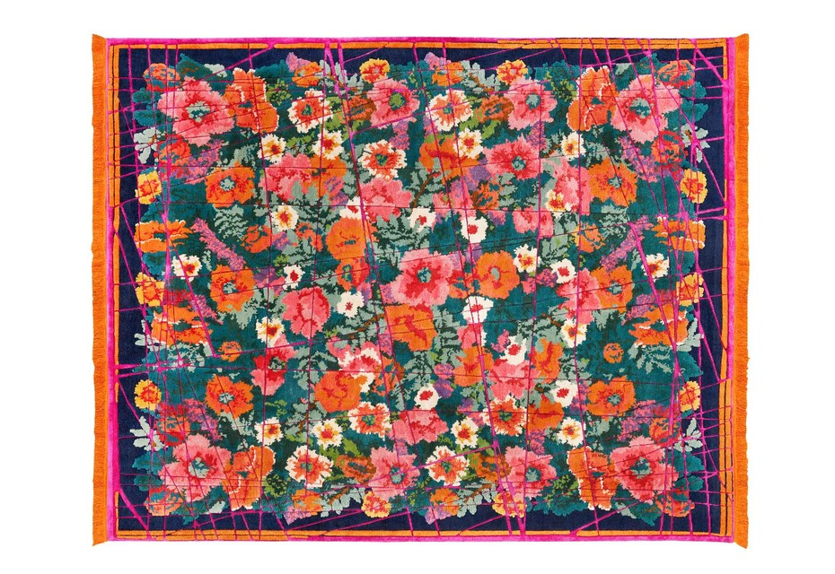 Scarlenka Allover Wrapped darkblue/pink