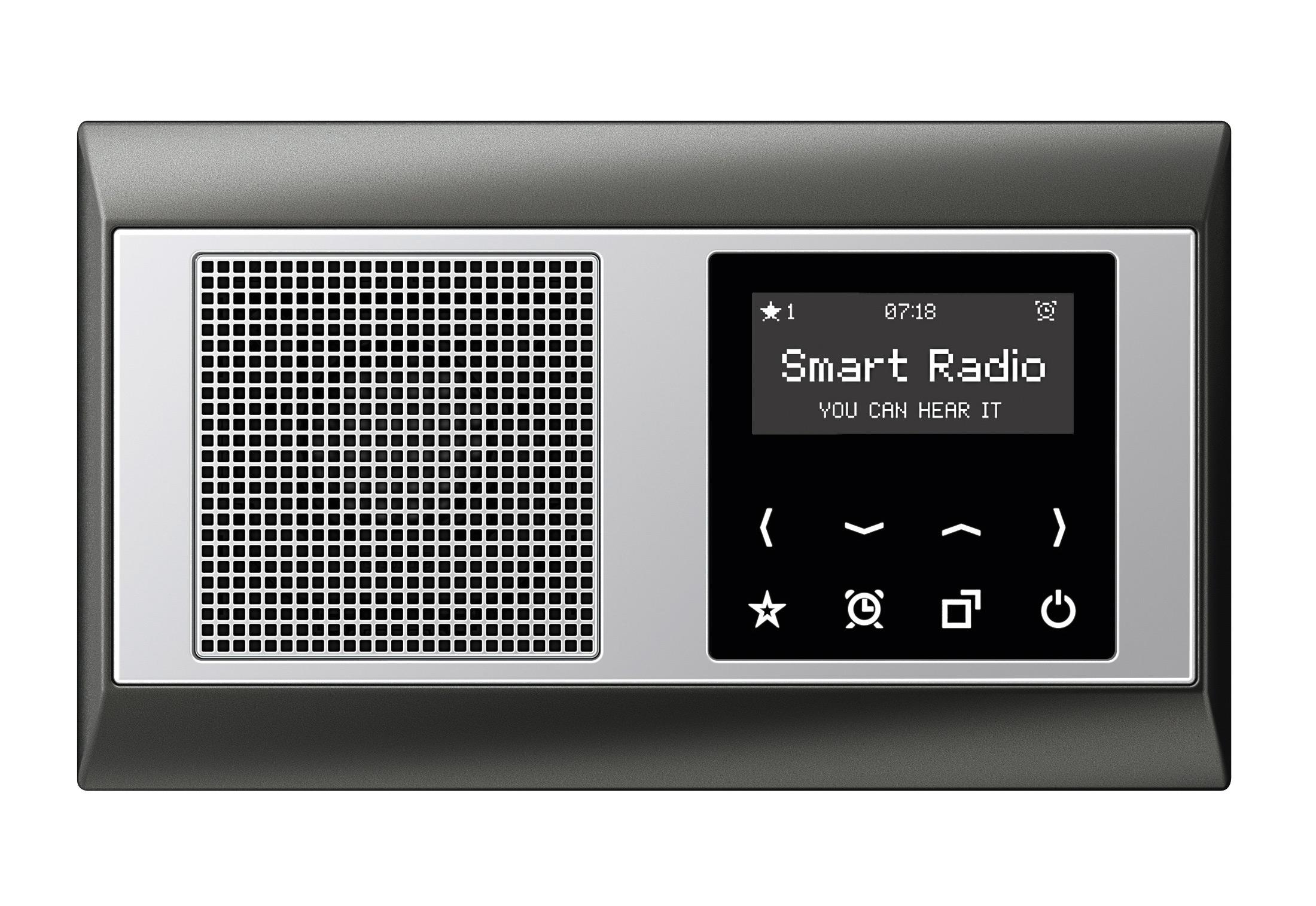 smart radio by jung stylepark. Black Bedroom Furniture Sets. Home Design Ideas