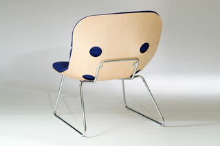 ARMADILLO chair on skids  by  Källemo