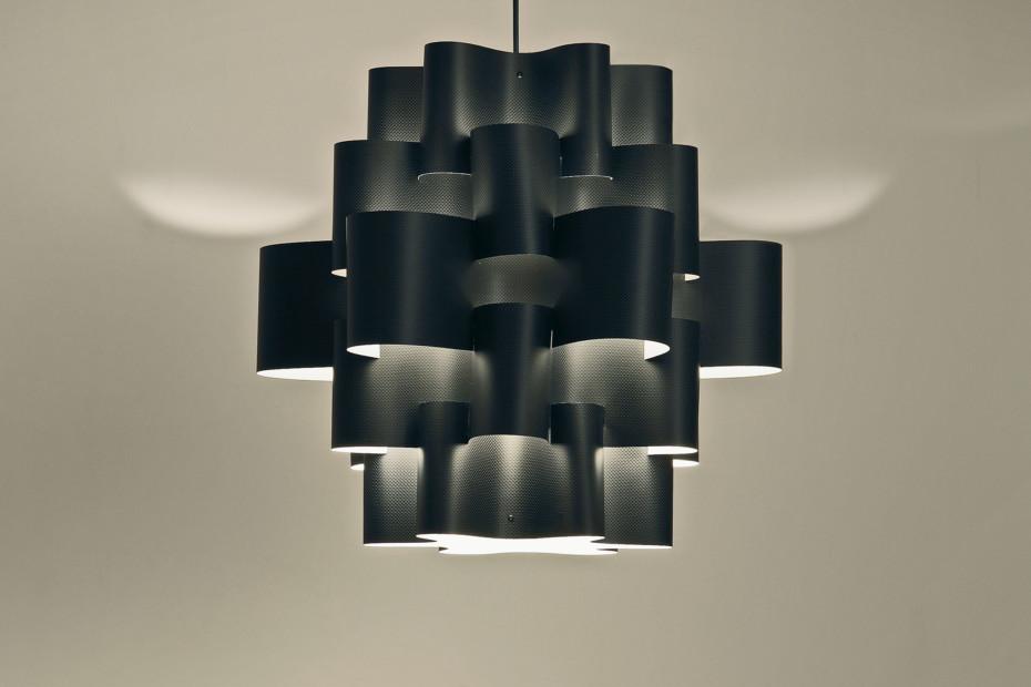 Black Sun Carbon pendant lamp