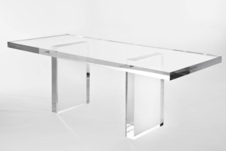The Invisibles Collection - table woth side panels  by  Kartell
