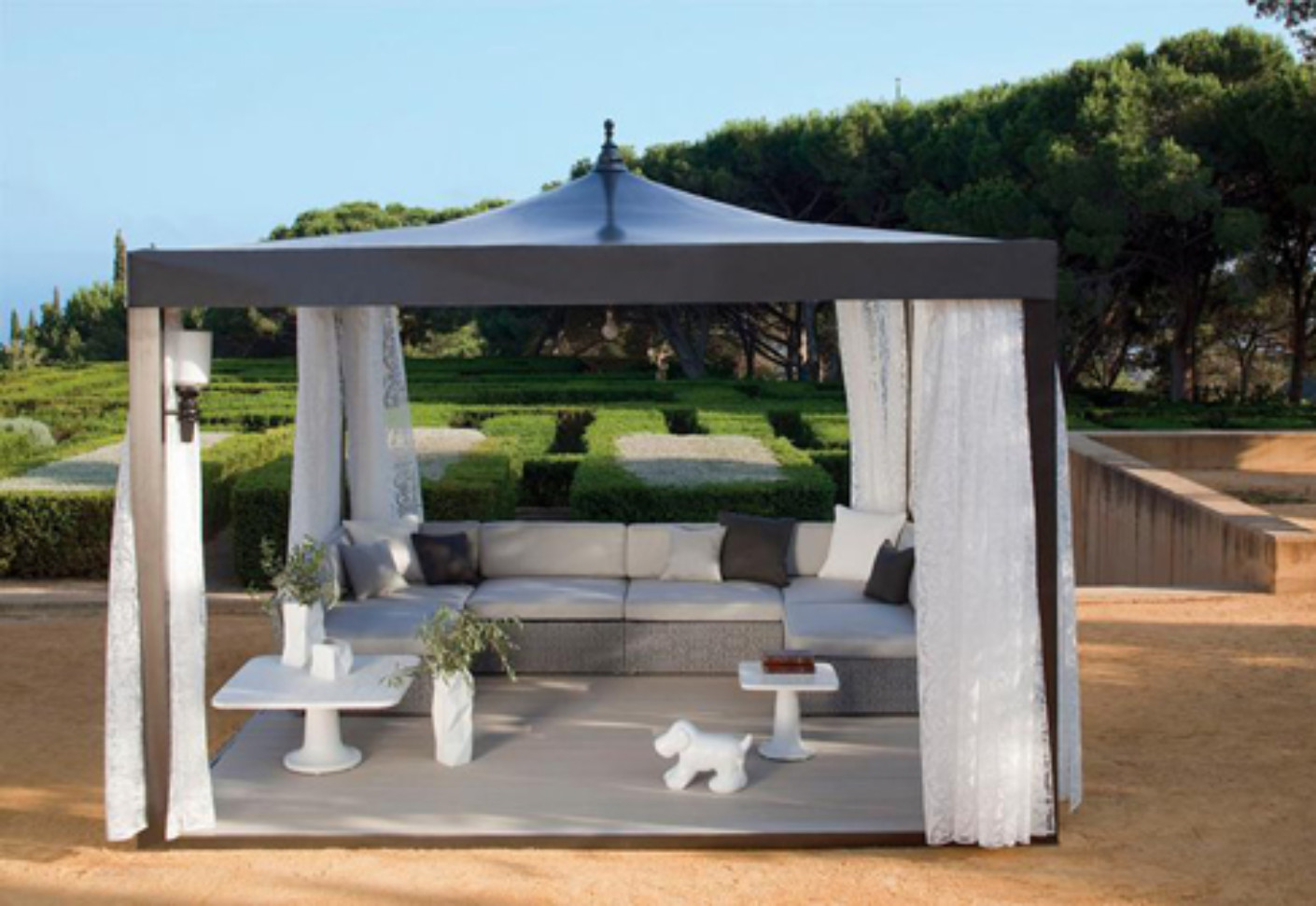 Atmosphere pavillion by kettal stylepark for Outdoor cabana furniture