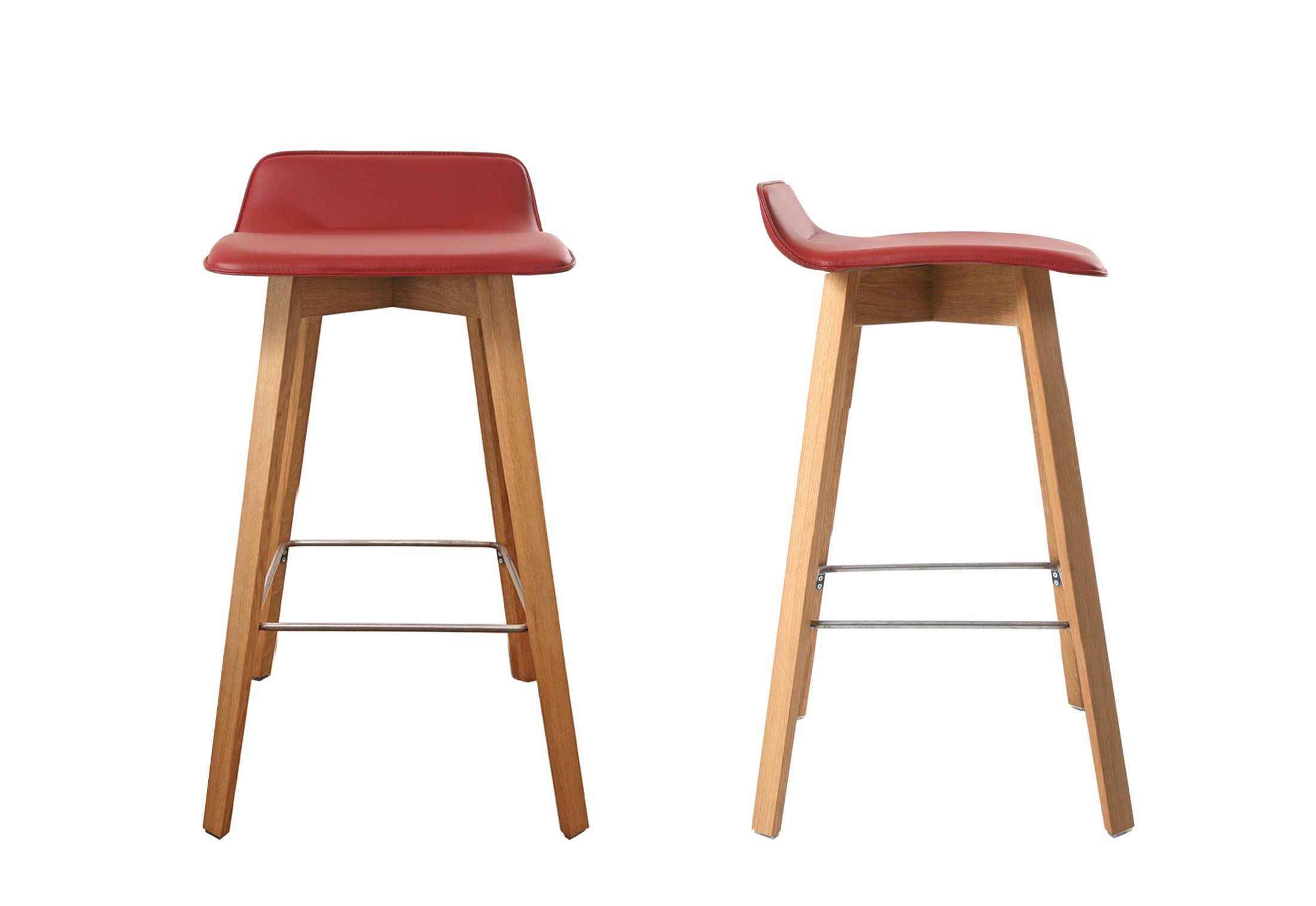 Maverick Upholstered Short Back Bar Stool By Kff Stylepark