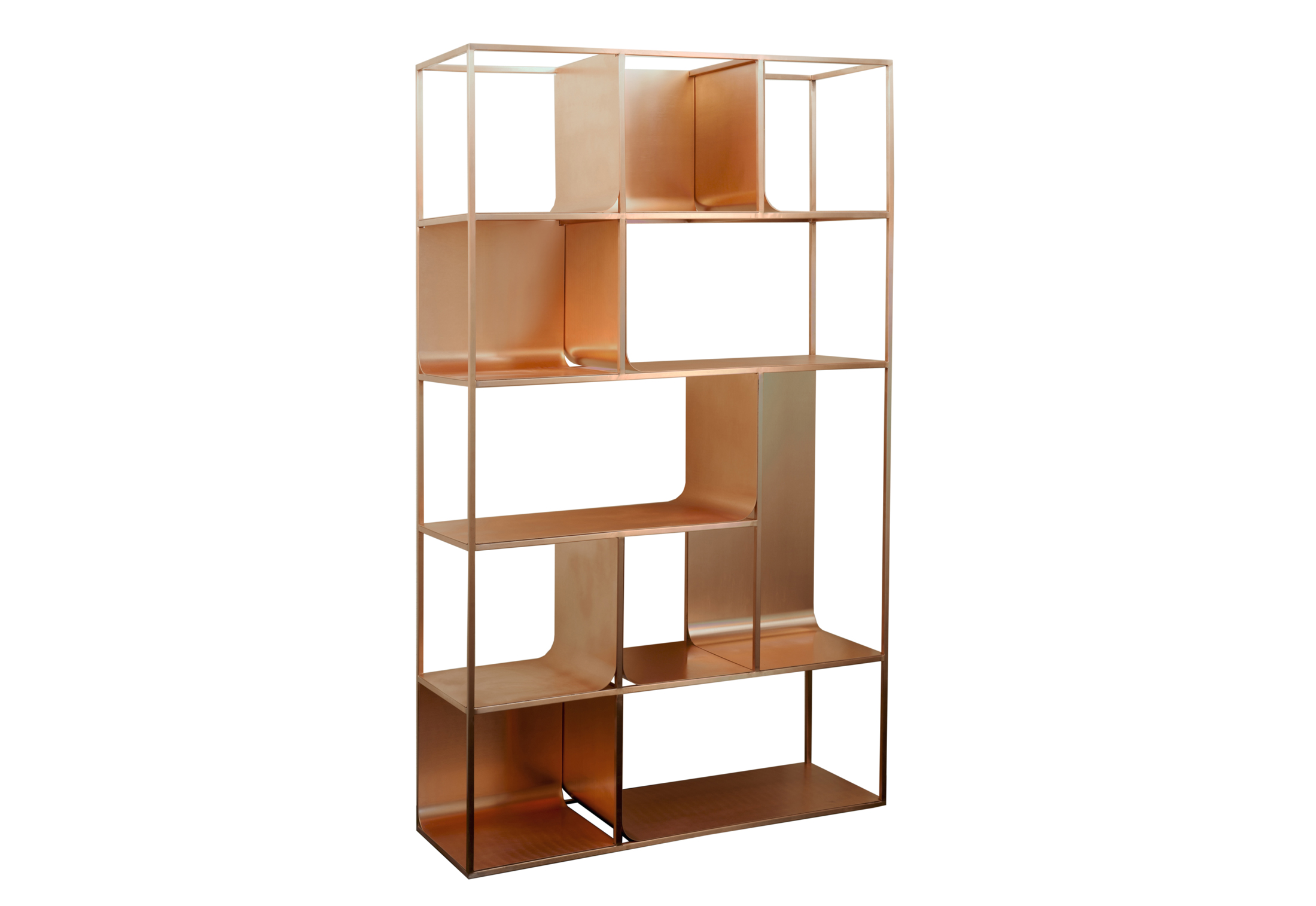 copper view shelf by kme stylepark. Black Bedroom Furniture Sets. Home Design Ideas