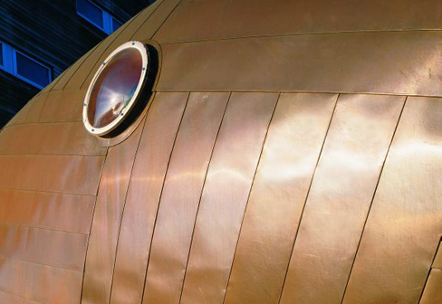 Tecu 174 Brass Seam Cladding By Kme Stylepark