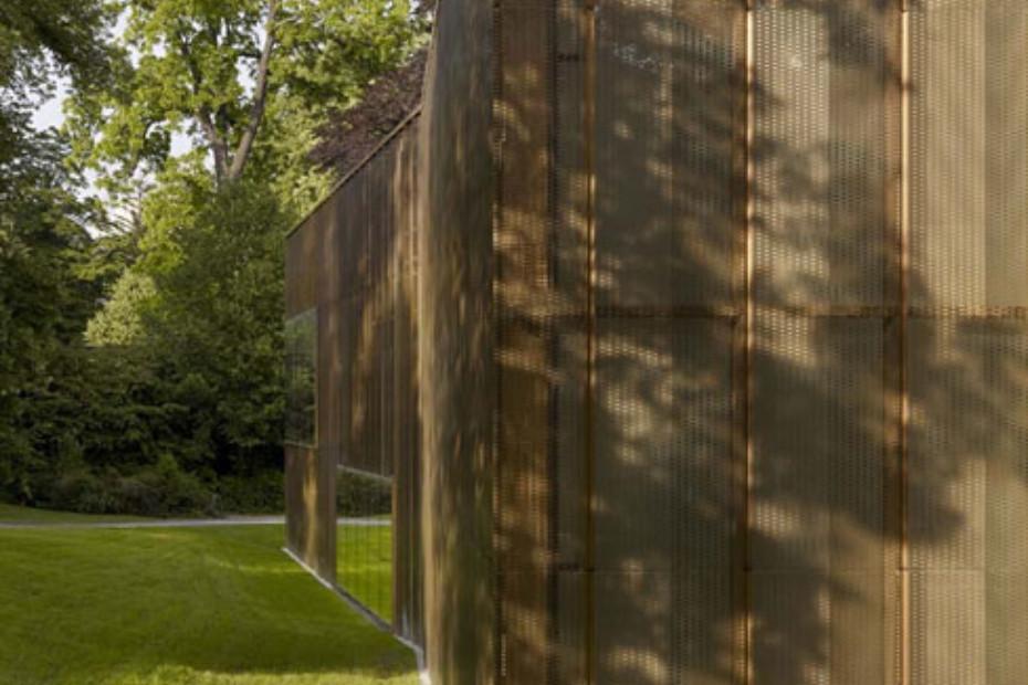 TECU® BRONZE Punch slot perforation, Villa Vauban